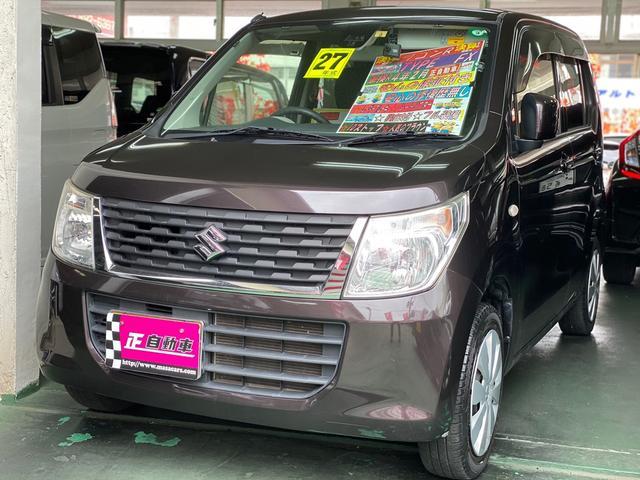 沖縄の中古車 スズキ ワゴンR 車両価格 49万円 リ済込 2015(平成27)年 7.8万km ブラウン