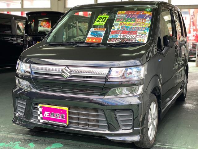 沖縄の中古車 スズキ ワゴンR 車両価格 74万円 リ済込 2017(平成29)年 9.6万km ブラック