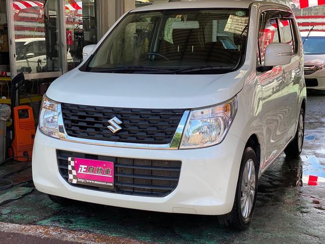沖縄県の中古車ならワゴンR FXリミテッド プッシュスタート スマートキー ベンチシート シートヒーター 純正アルミ プライバシーガラス ステアリングスイッチ CD