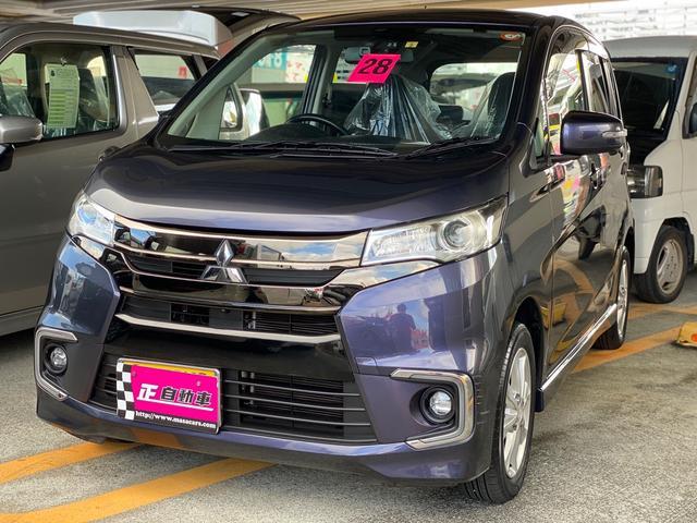沖縄の中古車 三菱 eKカスタム 車両価格 64万円 リ済込 2016(平成28)年 8.8万km パープル