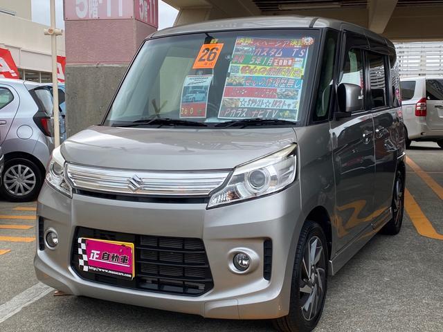 沖縄の中古車 スズキ スペーシアカスタム 車両価格 69万円 リ済込 2014(平成26)年 9.5万km グレー