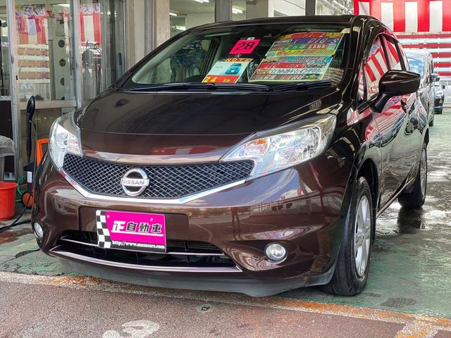 沖縄の中古車 日産 ノート 車両価格 59万円 リ済込 2016(平成28)年 9.4万km ブラウン