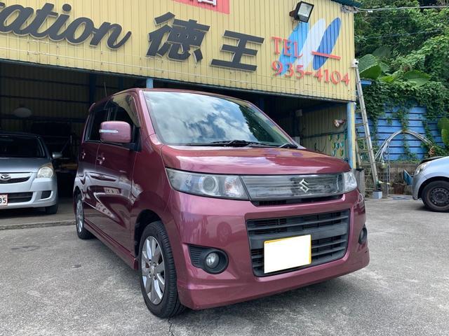 沖縄県の中古車ならワゴンRスティングレー リミテッド バックカメラ プッシュスタート オートライト HID モニター付CDプレーヤー