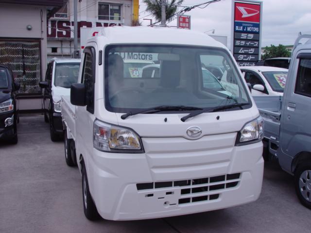 沖縄の中古車 ダイハツ ハイゼットトラック 車両価格 80万円 リ済込 2021(令和3)年 6km ホワイト