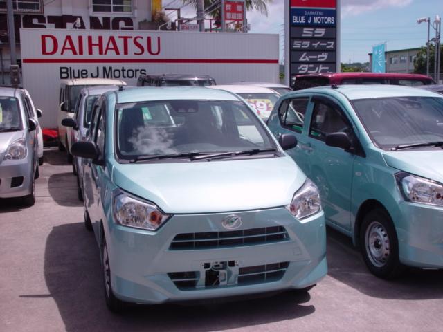 沖縄の中古車 ダイハツ ミライース 車両価格 92万円 リ済込 新車  ライトブルー
