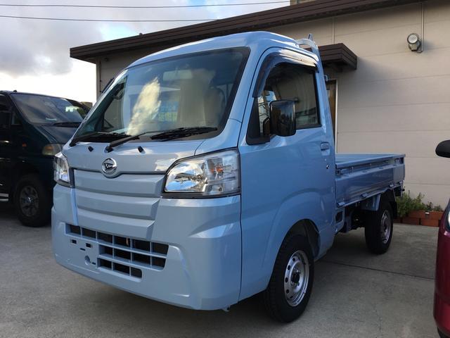 沖縄の中古車 ダイハツ ハイゼットトラック 車両価格 79万円 リ済込 2021(令和3)年 5km ライトブルー
