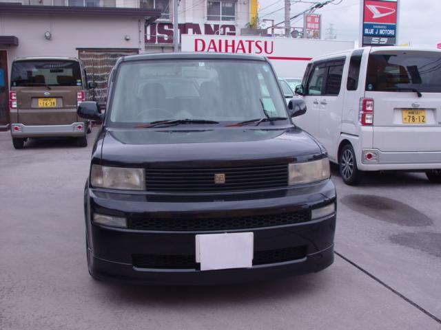 沖縄の中古車 トヨタ bB 車両価格 25万円 リ済込 平成17年 12.1万km ブラック