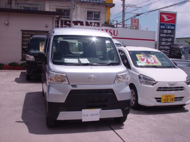 沖縄の中古車 ダイハツ ハイゼットカーゴ 車両価格 102万円 リ済込 2019(令和1)年 6km シルバー