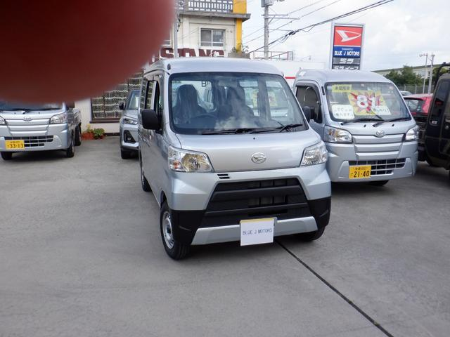 沖縄の中古車 ダイハツ ハイゼットカーゴ 車両価格 89万円 リ済込 2019(令和1)年 6km シルバー