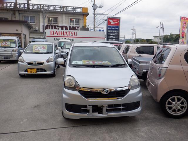 沖縄の中古車 ダイハツ ミライース 車両価格 39万円 リ済込 2013(平成25)年 7.1万km シルバー