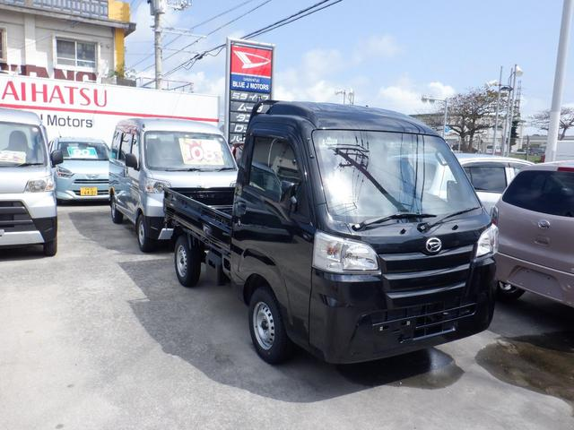 沖縄の中古車 ダイハツ ハイゼットトラック 車両価格 86万円 リ済込 2021(令和3)年 6km ブラック