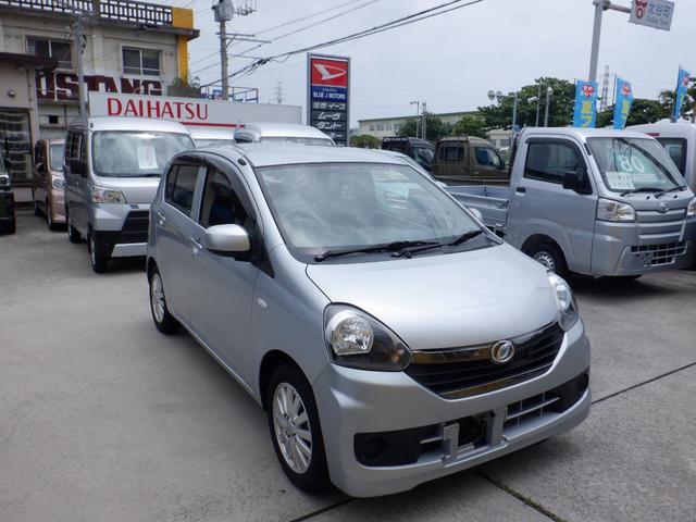 沖縄の中古車 ダイハツ ミライース 車両価格 34万円 リ済込 2016(平成28)年 6.7万km シルバー