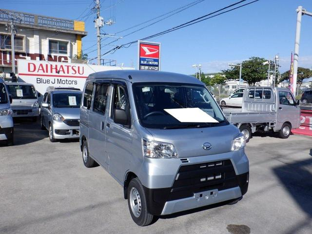 沖縄の中古車 ダイハツ ハイゼットカーゴ 車両価格 97万円 リ済込 2021(令和3)年 5km シルバー