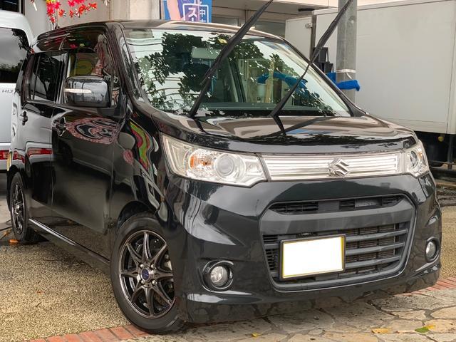 沖縄県の中古車ならワゴンRスティングレー X ナビ 地デジTV ブルートゥース機能 本土無事故車