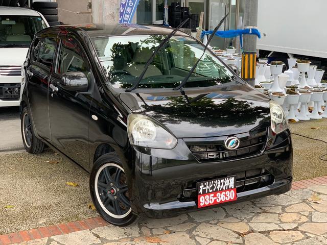 沖縄の中古車 ダイハツ ミライース 車両価格 42万円 リ済込 2012(平成24)年 10.0万km ブラック