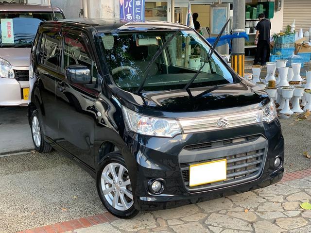 沖縄県の中古車ならワゴンRスティングレー X アイドリングストップ プッシュスタート 本土無事故車