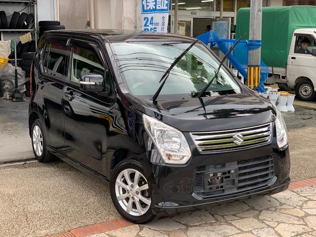 沖縄県の中古車ならワゴンR FXリミテッド  ナビフルセグTVバックカメラ 本土無事故車