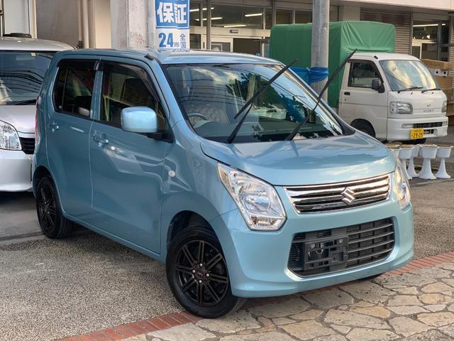 沖縄の中古車 スズキ ワゴンR 車両価格 35万円 リ済込 2013(平成25)年 12.6万km ブルー