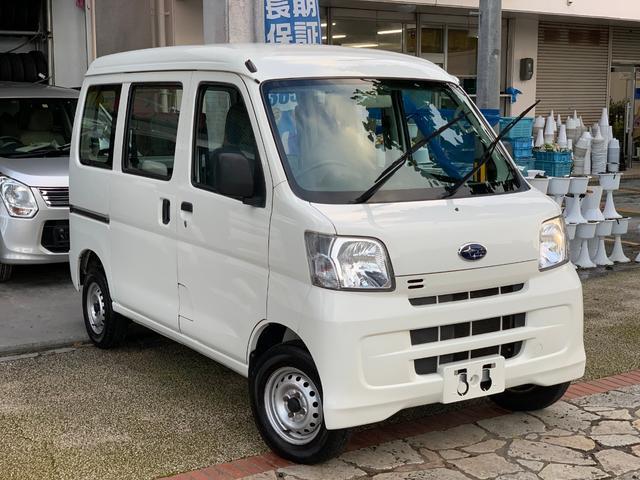 沖縄県の中古車ならサンバーバン トランスポーター ナビ 地デジTV 4速AT 本土無事故車