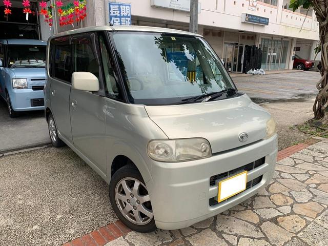沖縄の中古車 ダイハツ タント 車両価格 8万円 リ済込 2005(平成17)年 12.7万km ゴールド