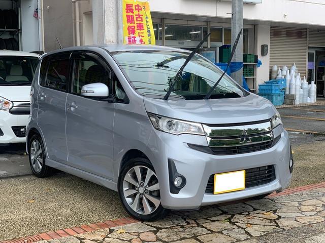 沖縄県の中古車ならeKカスタム Tターボ ナビTVブルートゥース バックカメラ 本土無事故車