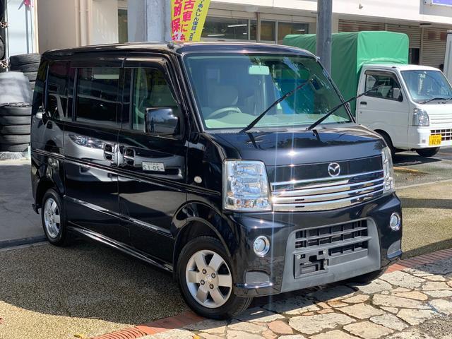 マツダ PZターボ 電動スライドドア 社外ナビ ETC 本土無事故車