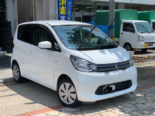 沖縄の中古車 三菱 eKワゴン 車両価格 39万円 リ済込 2015(平成27)年 10.3万km ホワイトソリッド