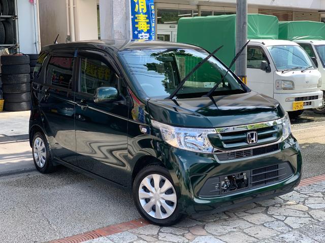 沖縄県の中古車ならN-WGN G スマートキー プッシュスタート アイドリングストップ ナビ 地デジTV ブルートゥース機能 ETC 本土中古車