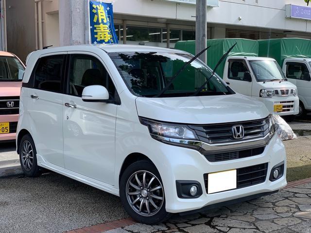 ホンダ N-WGNカスタム G・ターボパッケージ プッシュスタート ナビ TV バックカメラ 本土無事故車