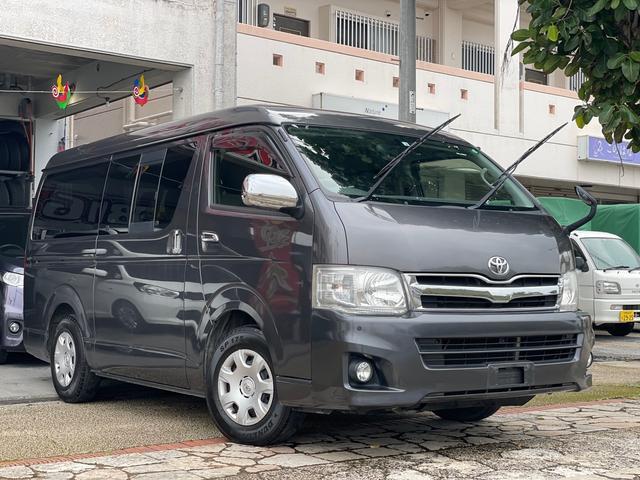 沖縄県の中古車ならハイエースバン ロングワイドスーパーGL 3.0Lディーゼルターボ 両側スライドドア イージークローザー ナビ フルセグTV Bluetooth機能 バックカメラ 本土無事故車