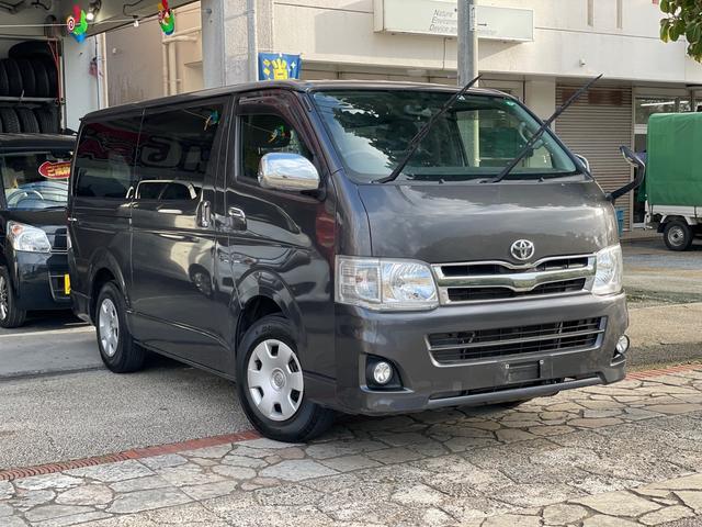 沖縄県の中古車ならハイエースバン ロングスーパーGL 3型後期 3.0Lディーゼルターボ 両側スライド イージークローザー ナビ TV バックカメラ ETC フルオートエアコン 本土無事故車
