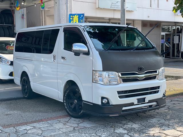 沖縄県の中古車ならハイエースバン ロングスーパーGL 3型 3.0Lディーゼルターボ 両側スライド イージークローザー ナビ TV バックカメラ ETC 社外16インチアルミ HIDヘッドライト フォグランプ 本土中古車