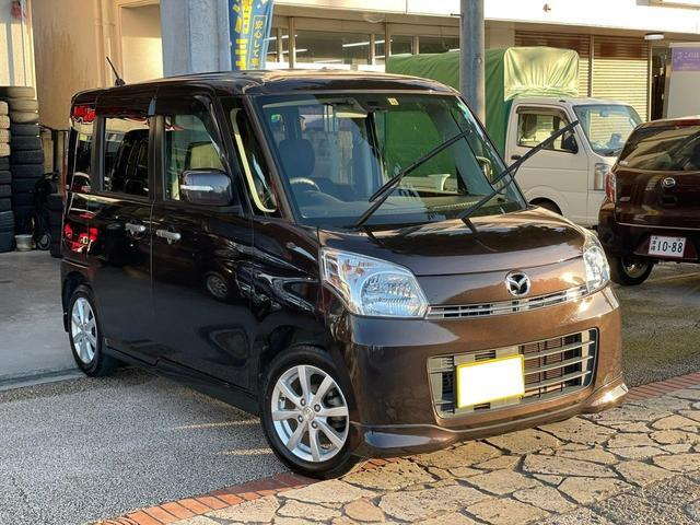 沖縄県の中古車ならフレアワゴン XSリミテッド 両側電動パワースライドドア プッシュスタート アイドリングストップ ナビ TV Bluetooth機能 DVD シートヒーター 本土無事故車