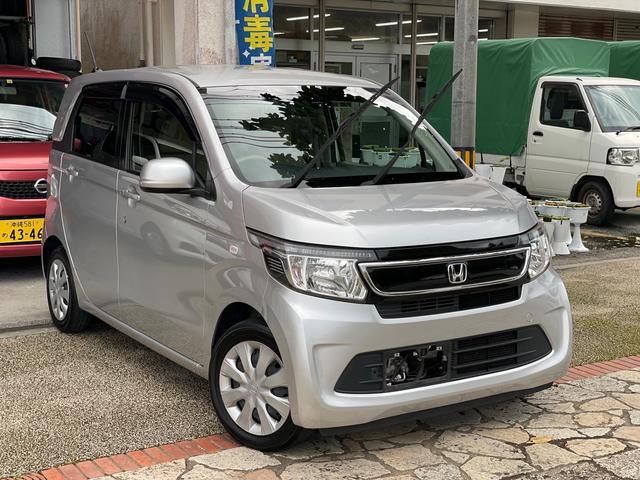 沖縄の中古車 ホンダ N-WGN 車両価格 43万円 リ済込 2014(平成26)年 12.5万km カトラリーシルバーメタリック
