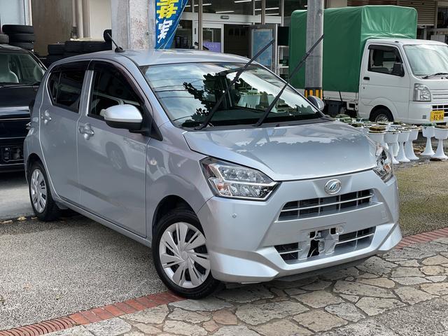 沖縄の中古車 ダイハツ ミライース 車両価格 63万円 リ済込 2018(平成30)年 3.9万km ブライトシルバーメタリック