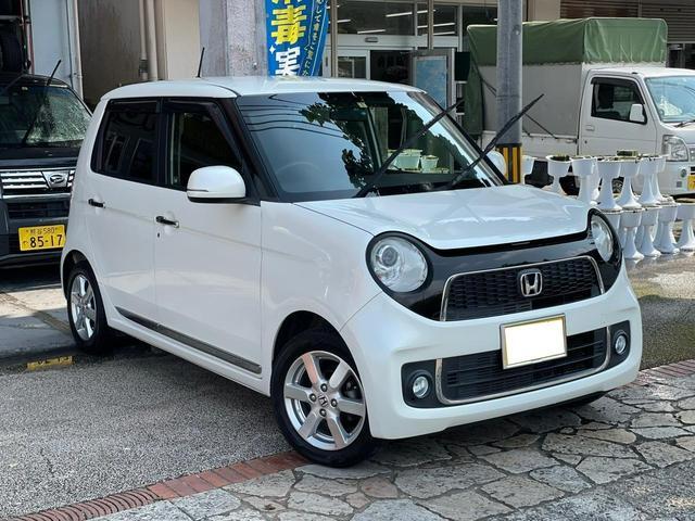 沖縄県の中古車ならN-ONE プレミアム・Lパッケージ プッシュスタート ディスプレイオーディオ HDMI バックカメラ アイドリングストップ 上級グレード 本土無事故車