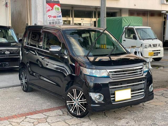 沖縄県の中古車ならワゴンRスティングレー リミテッドII スマートキー プッシュスタート 社外アルミホイール