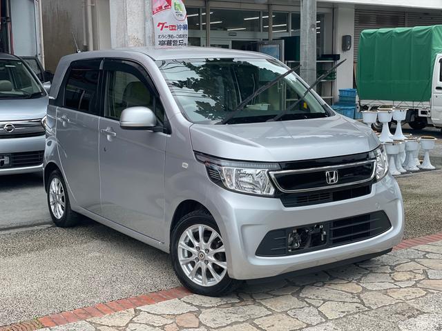 沖縄県の中古車ならN-WGN G スマートキー プッシュスタート アイドリングストップ ナビ Bluetooth機能 USB AUX フルオートエアコン 本土中古車