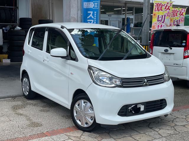 沖縄の中古車 三菱 eKワゴン 車両価格 43万円 リ済込 2014(平成26)年 7.8万km ホワイト