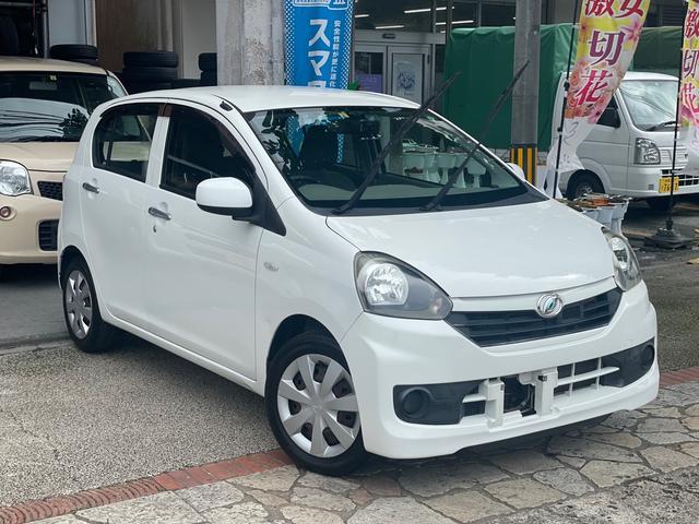沖縄の中古車 ダイハツ ミライース 車両価格 34万円 リ済込 2014(平成26)年 6.6万km ホワイト