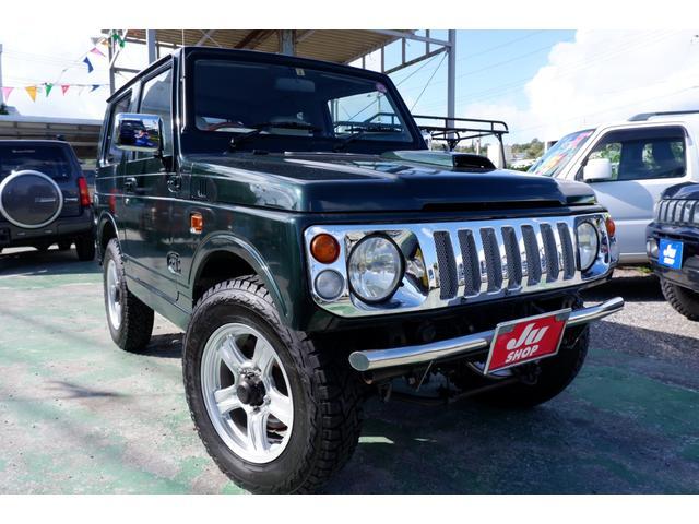 沖縄の中古車 スズキ ジムニー 車両価格 88万円 リ済込 1998(平成10)年 17.1万km グリーンM