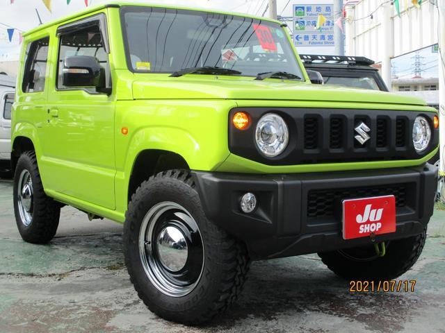 沖縄県の中古車ならジムニー XC XC セーフティサポート・AT・ナビテレビ・アルミホイール・MT タイヤ・シートヒーター・LEDヘッドライト・プッシュスタート