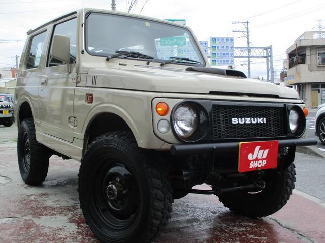 沖縄の中古車 スズキ ジムニー 車両価格 88万円 リ済込 1997(平成9)年 11.6万km ライトブラウン