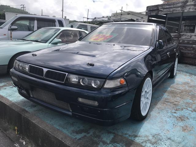 沖縄の中古車 日産 セフィーロ 車両価格 129万円 リ済込 1990(平成2)年 16.2万km ブルー