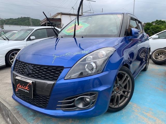 沖縄の中古車 スズキ スイフトスポーツ 車両価格 89万円 リ済込 2014(平成26)年 10.1万km ブルーM