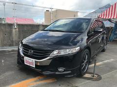 沖縄の中古車 ホンダ オデッセイ 車両価格 88万円 リ済込 平成20年 8.7万K クリスタルブラックパール