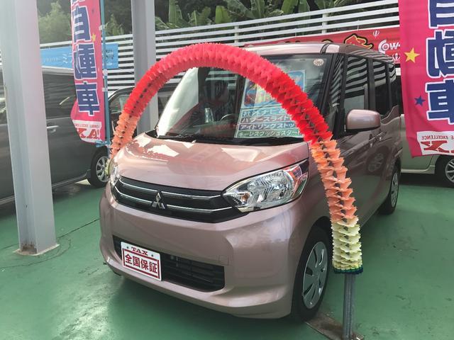 沖縄の中古車 三菱 eKスペース 車両価格 93万円 リ済込 平成27年 1.6万km ピンク
