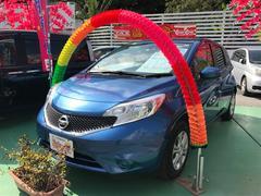 沖縄の中古車 日産 ノート 車両価格 63万円 リ済込 平成27年 7.7万K ブルー