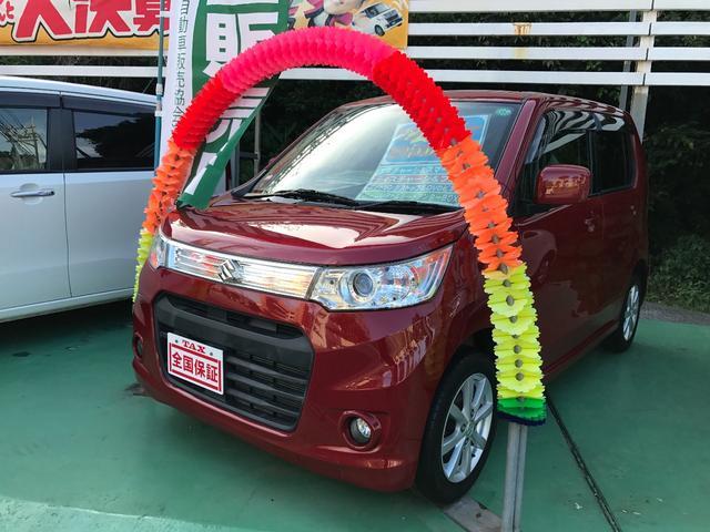 沖縄の中古車 スズキ ワゴンRスティングレー 車両価格 64万円 リ済込 2013(平成25)年 4.8万km レッド