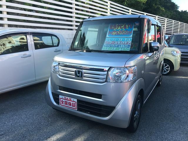 沖縄の中古車 ホンダ N-BOX 車両価格 88万円 リ済込 平成24年 5.8万km アラバスターシルバーメタリック
